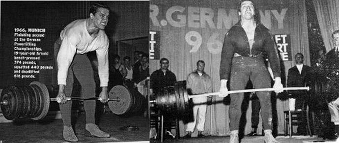 """Арнольд Шварценеггер делает становую тягу с весом 317,5 кг. Он доказал, что """"больше сила - больше мышцы"""""""